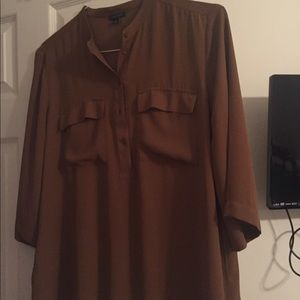 Loft blouse. Light brown